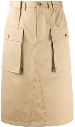 Maison Margiela Knee-Length Cargo Skirt