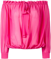 Miu Miu off shoulder pleated blouse - women - Silk - 38
