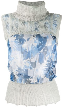 Christian Dior 2000s Panelled Floral Top