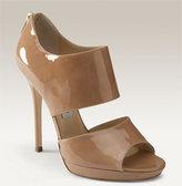 'Private' Cuff Patent Leather Sandal