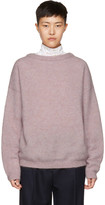 Acne Studios Pink Mohair Dramatic Sweater