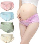 SLSL Cotton Maternity Pregnant Mother Panties Lingerie Briefs Underpants Underwear Lace Panty( 4 PCS )