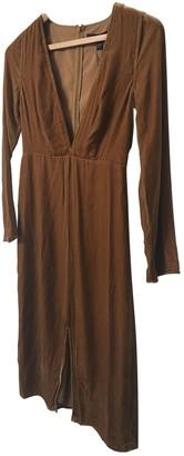 For Love & Lemons Camel Velvet Dresses