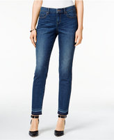 Style&Co. Style & Co. Curvy Copper Wash Released Hem Ankle Jeans, Only at Macy's