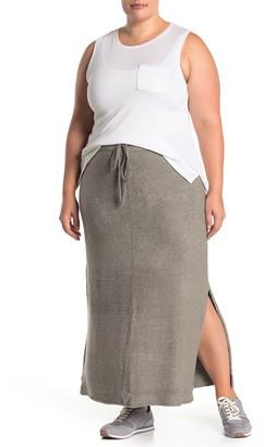 Barefoot Dreams Side Vent Knit Maxi Skirt (Plus Size)