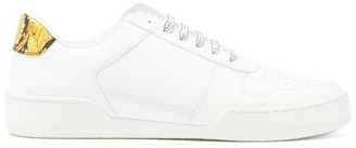 Versace Barocco-print Leather Trainers - White Multi