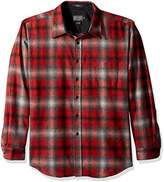 Pendleton Men's Long Sleeve Button Front Fitted Lodge Shirt