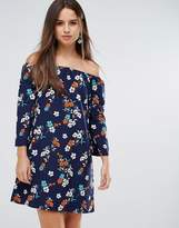 Parisian Floral Off Shoulder Dress