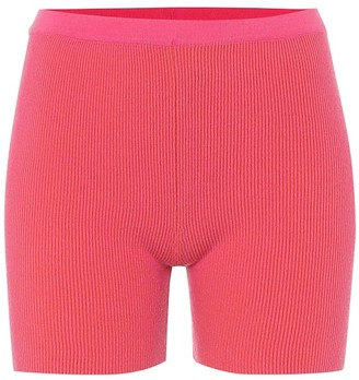 Jacquemus Le Short Arancia ribbed-knit shorts