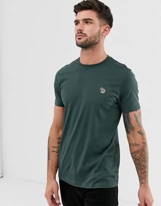 Paul Smith slim fit zebra logo t-shirt in dark green