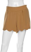 Chloe Silk Crepe Scallop Shorts