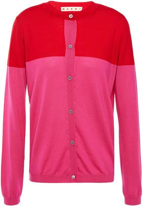 Marni Two-tone Wool Cardigan