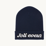 Maje Beanie with embroidered crest