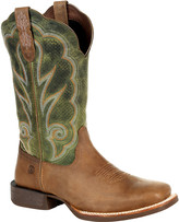 Durango Women's Western Boots DUSTY - Dusty Brown & Olive Green Square-Toe Leather Cowboy Boot - Women