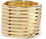 Elizabeth and James Vago gold-tone crystal ring