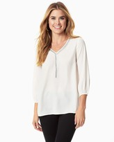 Charming charlie Beaded Crepe Blouse