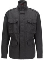 HUGO BOSS - Water Repellent Field Jacket With Light Padding - Black