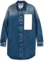 MM6 MAISON MARGIELA Paneled Denim Shirt - Dark denim