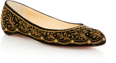 Christian Louboutin M'O Exclusive: Embroidered Ballerina Flat