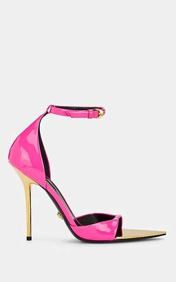 Versace Women's Patent Leather Ankle-Strap Sandals - Pink