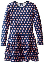 Toobydoo Dot Party Ruffle Dress (Toddler/Little Kids/Big Kids)