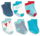 Elegant Baby Baby's Six-Piece Nautical Sock Set