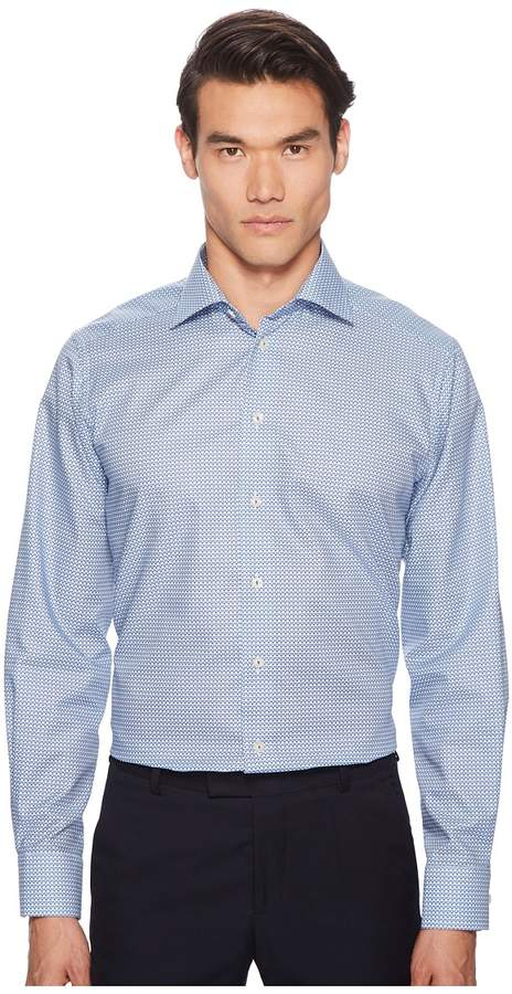Eton Contemporary Fit Geometric Shirt Men's Long Sleeve Button Up