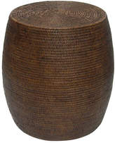 Rattan Drum Stool Color: Brown