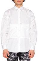 DSQUARED2 Oversized-Pocket Long-Sleeve Shirt, White