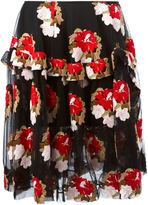 Simone Rocha flower embroidered tulle skirt