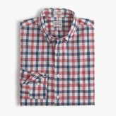 J.Crew Slim Secret Wash shirt in checked heather poplin