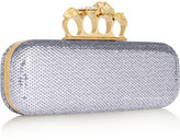 Alexander McQueen Knuckle sequined box clutch