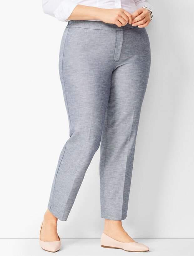 Talbots Plus Size Hampshire Ankle Pants - Sharkskin