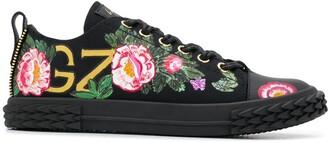 Giuseppe Zanotti x Swae Lee floral-print high-top sneakers
