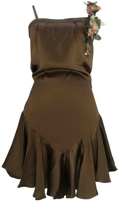 John Galliano Brown Silk Dresses