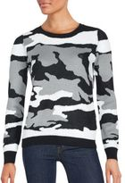 Saks Fifth Avenue Camo Sequin Sweater