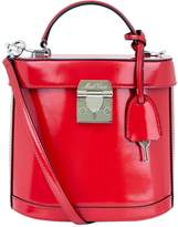 Mark Cross Benchley Patent Leather Shoulder Bag, Red, One Size
