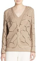 Escada Ladder-Stitch Cardigan