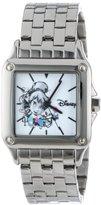 EWatchFactory Disney Women's W000929 Square Steel Tinker Bell Silver Tone Bracelet Strap Watch