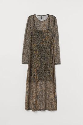 H&M Patterned mesh dress