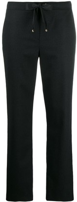 Les Copains Metallic Stripe Straight-Leg Trousers