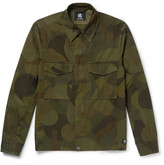 Paul Smith Slim-fit Camouflage-print Cotton-twill Field Jacket - Green