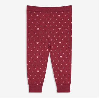 Joe Fresh Baby Girls' Sweater Legging, Magenta (Size 3-6)
