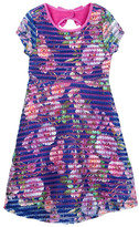 Iris & Ivy Photo Real Floral Stripe Dress (Big Girls)