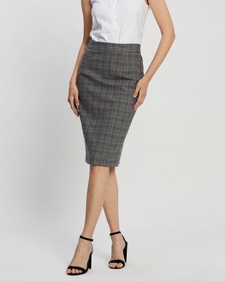 Farage - Women's Grey Pencil skirts - Lane Skirt - Size One Size, 12 at The Iconic