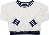 Little Remix Audrey Floral Lace Sweater