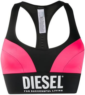 Diesel Colour Block Bikini Top