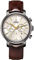Rado DIAMASTER R14076106 45mm Automatic Ceramic Case Brown Calfskin Synthetic Sapphire Men's Watch