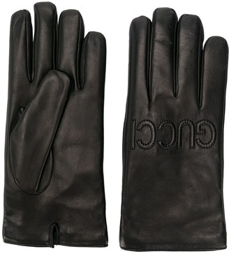 Gucci Logo Embossed Gloves