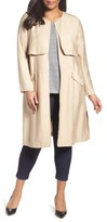Sejour Plus Size Women's Long Open Front Trench Coat